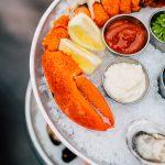 seafood tower closeup shot b town