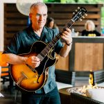 b town kitchen grand opening guitarist